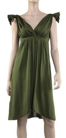 Fine Silk & Wool Jersey Grecian Goddess Dress - dress for pear bodyshape