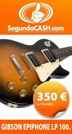 #Venta Guitarra Gibson Epiphone LP 100 http://www.segundacash.com/