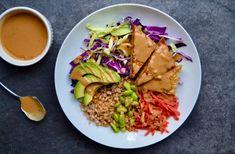 Tempeh Buddha Bowls with Peanut Sauce   TUCK & TATE