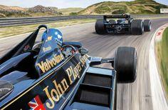 """Wingman"" - Print of Ronnie Peterson defending Mario Andretti's position at Zandvoort 1978"