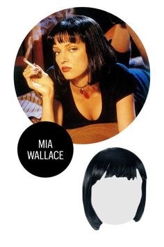 It's not absolutely necessary, but if you're going to pull of Wallace's jet black bob you should probably know how to twist. Other than that, all you need is white button-up, black bottoms, and a date who can cut a rug. Mia Wallace in Pulp Fiction Wig, $28.47; citycostumewigs.com.