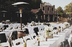 Old town square!   http://greenweddingshoes.com/long-branch-farms-laid-back-western-town-wedding-stephanie-jordan/