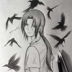 Uchiha Itachi✏ I feel like I enjoy doing these kind of little sketches lately. Still using these two pencils - 2B and 0,5mm HB #itachiuchiha #sketch