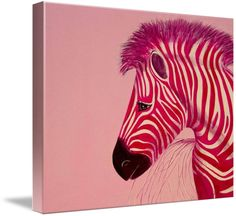 """""""Zebra+pink+Popart""""+by+Lindsey+Janich,+Frankfurt+//+Painted+in+acryllics+for+an+artshow+-+original+50cm+x+50cm+one+of+a+set+(Six+in+all)+//+Imagekind.com+--+Buy+stunning+fine+art+prints,+framed+prints+and+canvas+prints+directly+from+independent+working+artists+and+photographers."""