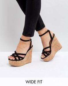 67c1d50ffda ASOS TULITA Wide Fit High Wedges at asos.com. Black Wedges OutfitHigh  WedgesSummer WedgesWedge ShoesWedge SandalsNew ShoesSexy HeelsHigh ...
