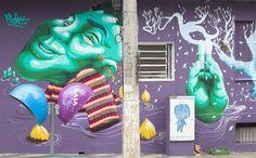 Artesanato com amor...by Lu Guimarães: Artistas usam crochê e graffiti para trazer alegri...