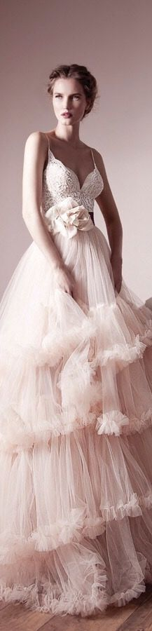 lihi hod spring 2013 bridal gowns, pink ruffles, {ht}