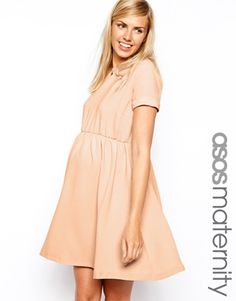 Enlarge ASOS Maternity Skater Dress In Crepe