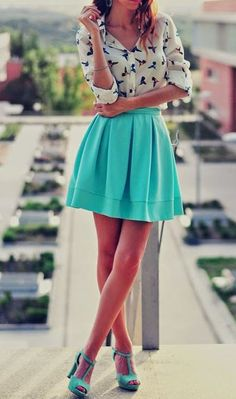 Love this | Skirt and blouse | Summer |