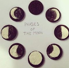Moon phases in Oreos