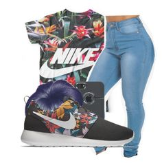 """Untitled #248"" by neca-xoxo ❤ liked on Polyvore featuring Boohoo and NIKE"