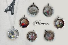Princess-themed Origami Owl (uses old charms but could substitute some of these)