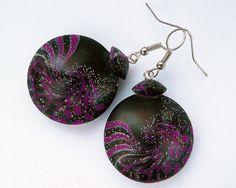 Purple earrings Gothic earrings Royal by BrightJewelryLIXORI