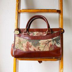 tapestry cross body doctor bag  brahmin bag