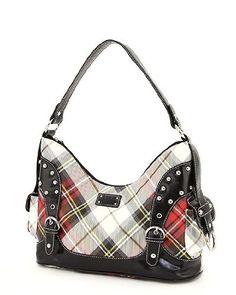 ($34.99) Plaid Check Handbag Belt Fashion Hobo BagFrom P4Purses