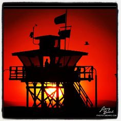 """""""Lifeguards Last Hour""""   Here our San Clemente lifeguards stay on watch until the last hour of daylight.   San Clemente, California USA"""