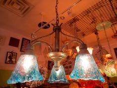 Hand Blown Glass Chandelier - Custom Glass Chandelier - Lamp - Custom Lighting by Primo Glass $350.00