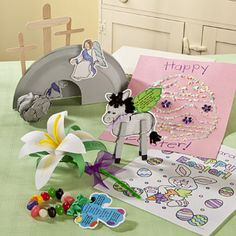 Free-N-Fun Easter Crafts    Everyone loves expressing their creativity, and Easter is the perfect time to get crafty with traditional or inspirational themes. Provide plenty of options like these for kids to make Easter decorations, gifts and one-of-a-kind keepsakes.    Crafts include tissue pom-pom Easter critters, paper lilies, paper bunny pops, eggshell drawings, colors of faith jellybean bracelet, and more!