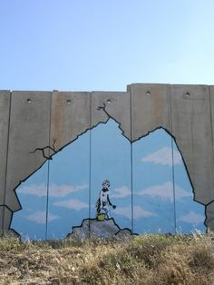 "The sense of art work of art terrorist ""Banksy"" is too dangerous … – Graffiti World Street Art Banksy, Banksy Graffiti, 3d Street Art, Banksy Wall Art, Urban Street Art, Amazing Street Art, Street Artists, Urban Art, Bansky"
