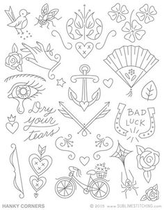 Embroidery Patterns <br> HANKY CORNERS