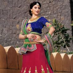 #Red Net #Lehenga #Choli