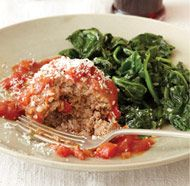 Sicilian Meatballs with Fresh Basil Marinara