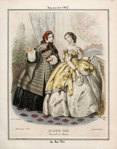 In the Swan's Shadow: Le Bon Ton, November 1857 (I'm thinking this skirt for my new ballgown?)