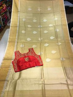 Cora and chenderi silk sarees Semi stitched blouse Order what's app 7995736811