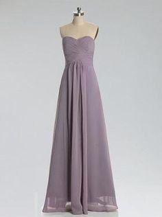 Chiffon Simple Cheap Elegant Sweet Heart Gray prom dress under 150