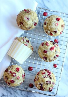 Cranberry Orange Oat Muffins (gluten-free, dairy-free); these flourless oat based muffins are super soft, moist, delicious and easy to make!