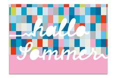 "Postkarte ""Hallo Sommer"" // by minipunkt via DaWanda.com."