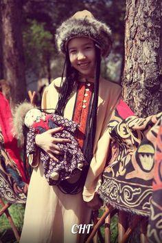 A little Kyrgyz girl