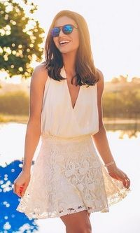 Look: Camila Coelho - All White Mais Skirt Outfits, Cool Outfits, Casual Outfits, Summer Dresses 2017, Summer Outfits, Cute Dresses, Short Dresses, Girl Fashion, Fashion Outfits