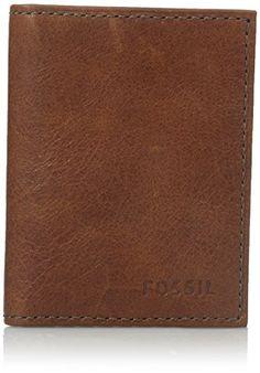 David Hampton Saffiano Leather Trifold Black