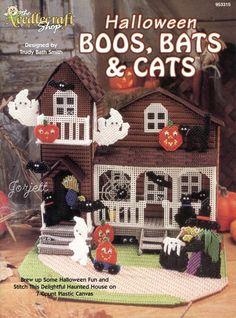 PUBLICATION TITLE: Halloween Boos, Bats & Cats. Halloween Boos, Bats & Cats booklet patterns include PLASTIC CANVAS MESH SIZE: 7-count. CRAFT TYPE: Plastic Canvas. Spooky House. PUBLICATION FORMAT TYPE: Printed paper publication. | eBay!