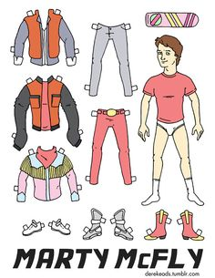 Marty McFly Paper Cut-Out
