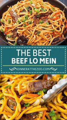Beef Lo Mein Recipe Easy, The Best Lo Mein Recipe, Low Mein Noodles Recipe, Chicken Lo Mein Recipe Easy, Shrimp Lo Mein Recipe, Lo Mein Noodles, Easy Healthy Recipes, Asian Recipes, Beef Recipes