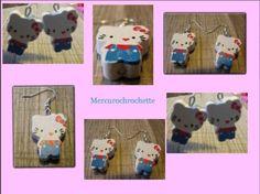 boucles d'oreilles version bleue pour enfant  - boucle d oreille enfants - mercurochrochette - Fait Maison