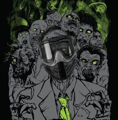 Zombies' crypt at Delta Force Paintball is the best place to haunt zombies!