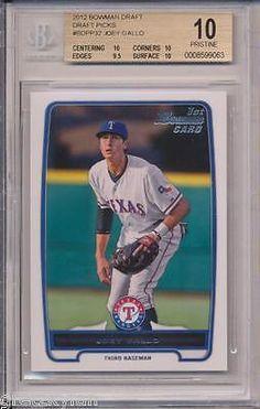 2012 Bowman Draft Joey Gallo RC Rookie BGS 10 Pristine Texas Rangers