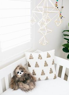 Adorable Fuzzy Sloth. baby nursery. kids bedroom. home decor and interior decorating ideas.