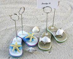 Cute Destination Wedding favors: FlipFlop Placecard Holders
