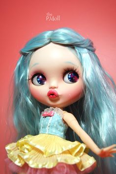 thePJdoll-[ Angela! ] Custom Blythe Doll/OOAK, handmade Blythe custom/ブライス/freckles/Licca/art doll/wigs/