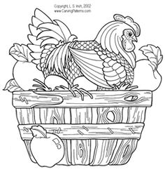 wood burning patterns free   Hens and Roosters Pattern Package - download