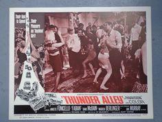 Thunder Alley lobby card movie poster vtg 1967 hot rod race Annette Fabian