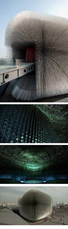 Créativité sans limite. Le pavillon qui représente le Royaume Uni à l'exposition universelle de Shanghai a été conçu par l'architecte Katerina Dionysopoulo