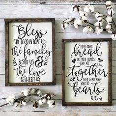 Bless the Food Before Us Wood Sign Rustic by CoastalCraftyMama
