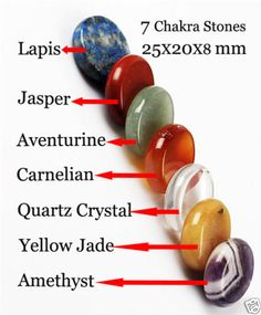 Chakra Set  7 Different healing stones to balance your body & mind Healing 04