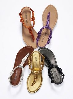 Knotted Thong Sandal - Colin Stuart® - Victoria's Secret    And here are my shoes to walk to the beach....