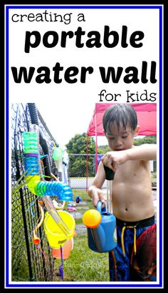 kids' water wall, kids water wall, portable water wall, preschool water wall, water wall for kids, DIY water wall, do it yourself water wall